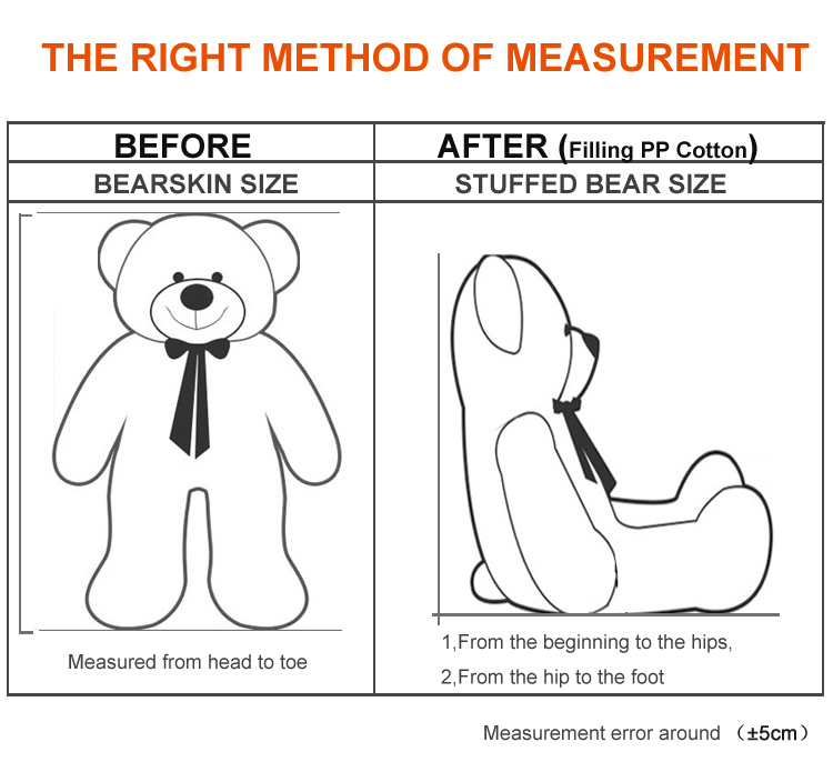 Niuniudaddy Teddy bear skin Anak patung mainan mewah kanak-kanak - Mainan lembut - Foto 5