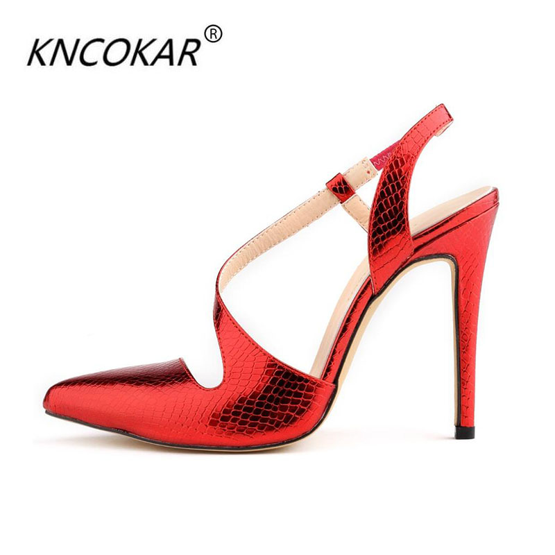 KNCOKAR2018 hot sales in Europe and the United States new fine summer sandals with pointed sexy high heels for womens shoesKNCOKAR2018 hot sales in Europe and the United States new fine summer sandals with pointed sexy high heels for womens shoes