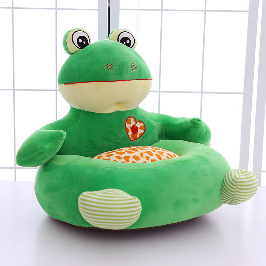 2018 New Frog Elephant Pillow Monkey Cushion Children Sofa Chair Plush Seat Baby Nest Sleeping Bed Almofada Soft Coussin 50T0413 2018 huge giant plush bed kawaii bear pillow stuffed monkey frog toys frog peluche gigante peluches de animales gigantes 50t0424