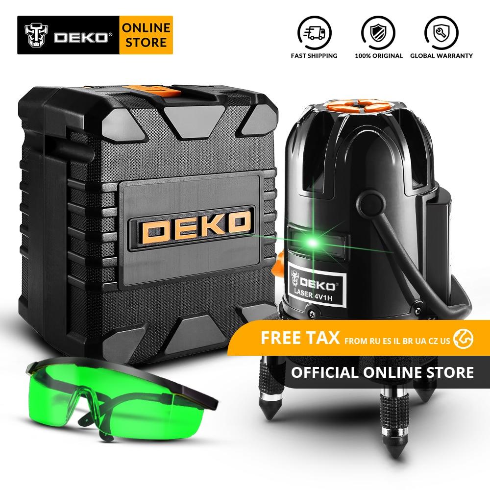 D'origine 2019 Nouvelle Arrivée DEKO DKLL501 Auto-nivellement 5 Ligne 6 Points Horizontal et Vertical Vert Laser Niveau 360 d'ajustement degré