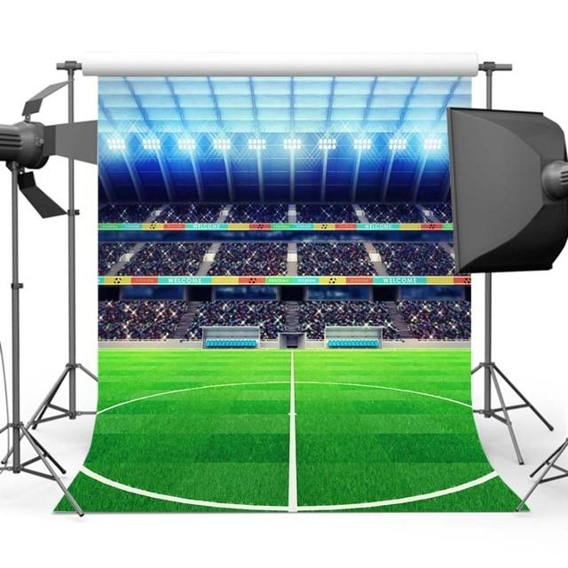 Mehofoto Футбол поле фон для фотографии мир футбольный матч фон зрители платформа освещение фоны Y-450
