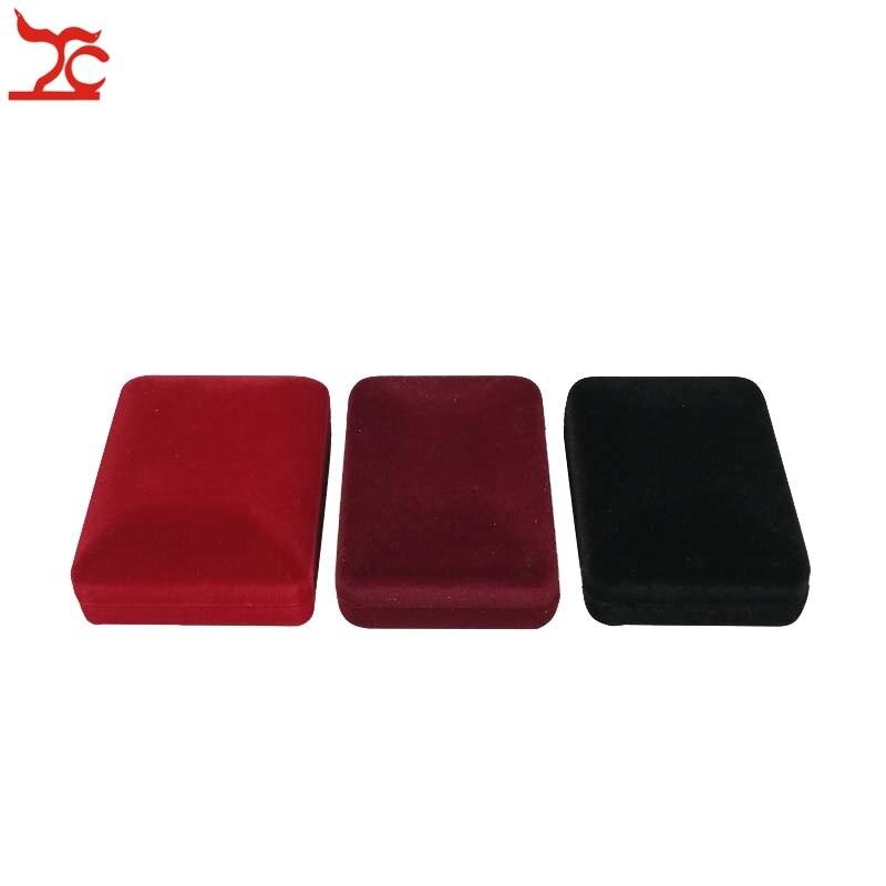 20Pcs/lot Velvet  Jewelry Display Case 3 Colors Velvet Stud Earring Storage Box Pendant Organizer Holder Gift Box