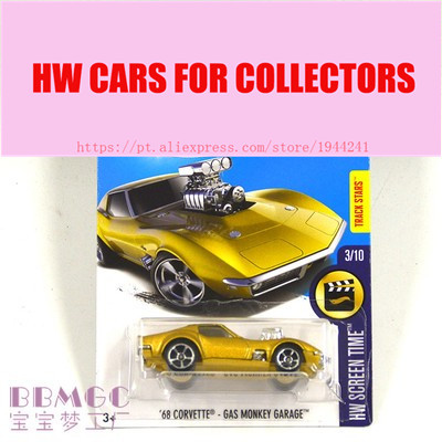 New Arrivals 2017 Hot Wheels 1:64 68 CORVETTE-GAS MONKEY GARAGE Metal Diecast Cars Collection Kids Toys Vehicle For Children