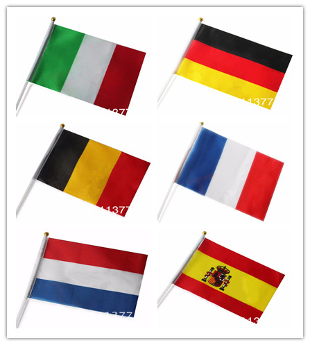 Wholesale 14 21 Cm Polyester Material Small National Flags Spain Luxembourg Italy France Belgium Germany Flags Good Quality Flag Toothpicks Flag Pirateflag Polo Aliexpress