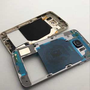 Image 4 - Oryginalna pełna obudowa tylna pokrywa + przednia do szkła ekranu i soczewek + środkowa ramka do Samsung Galaxy S6 G920 G920F G920A SM G920F