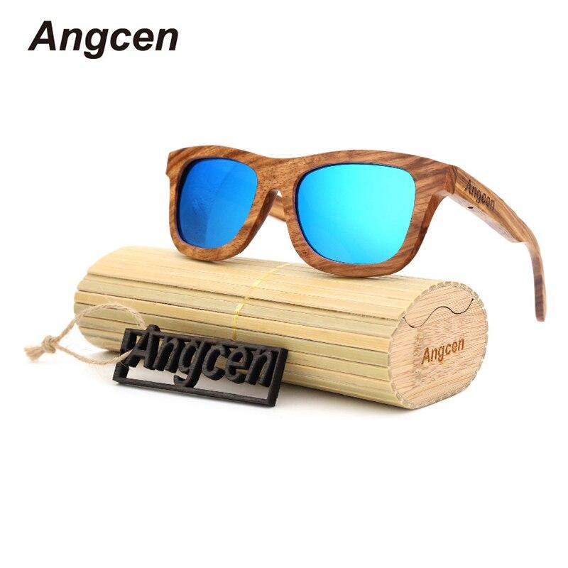 Angcen glasses 2017 New handmade wooden ladies font b fashion b font font b polarized b