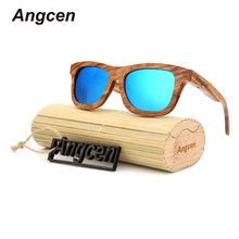 Angcen glasses 2017 New handmade wooden ladies fashion polarized sunglasses Shading mirror Wooden Sunglasses YA03
