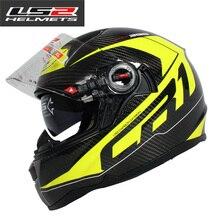 2016 doble lente airbag edición casco de la motocicleta LS2 casco de fibra de carbono ECE aprobado casco casco LS2 FF396