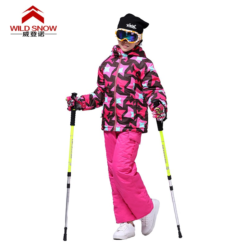 Children Winter Clothing Set windproof ski jackets+pant kids Winter Snow Sets boys and Girls Outdoor Warm Suit Size104-128 TS606 winter clothing kids ski jacket pant boys girls super warm skiing snowboard suit children outdoor sport windproof waterproof set