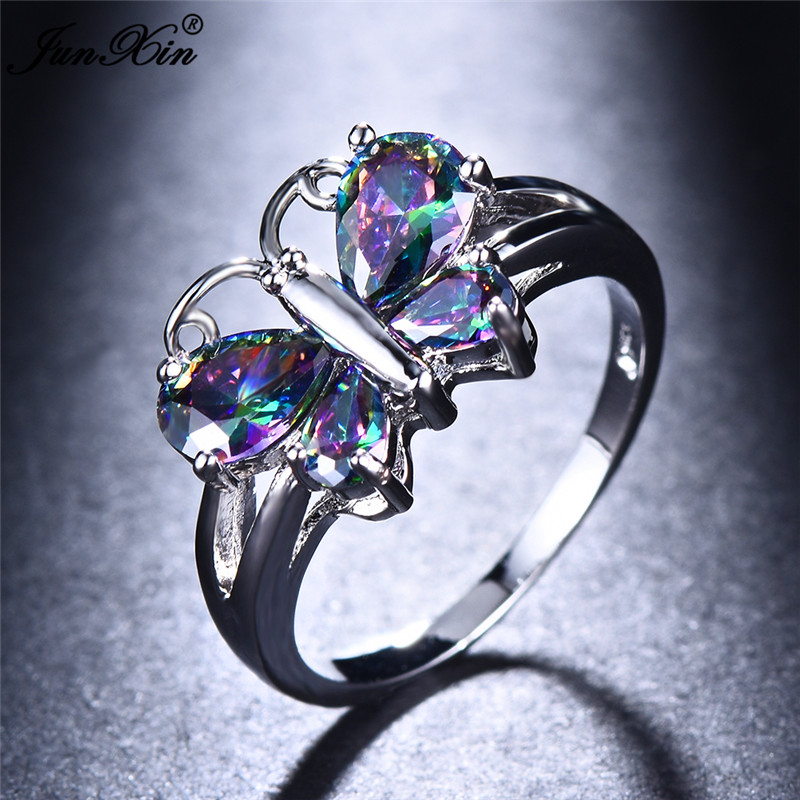 Cute Rainbow Butterfly Ring...