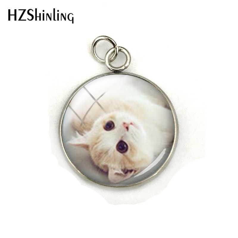 Милые кошки, милые животные, кошки, стеклянный кабошон, купол, нержавеющая сталь, покрытый подвеской, ручная работа, ювелирные изделия, аксессуары