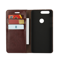 Deluxe Wallet Case For Huawei Honor 8 Genuine Cow Leather Case Huawei Honor 8 Magnetic Flip