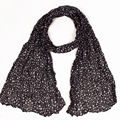 2016 Autunm-winter Small Size Black Star Print Women Shawl Fashion Design Fold Scarf
