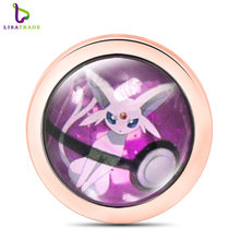 1PCS 33mm Anime My Moneda Coin, Glass Coin disc, Fit for Moneda pendant, Coin frame locket DIY Fashion Jewelry MICO296-303(China)