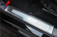 Аксессуары 4 шт. Нержавеющаясталь внутренний порогов Защитная крышка для VOLVO XC90 2016 2017 2018 2019 стайлинга автомобилей