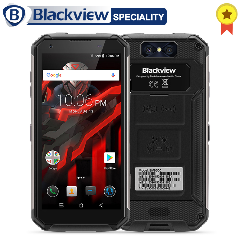 Blackview BV9500 Smartphone MT6763T Octa Core 5.7 18:9 FHD + Écran 10000 mah 4 gb + 64 gb NFC IP68 étanche Android 8.1 OTG Téléphone