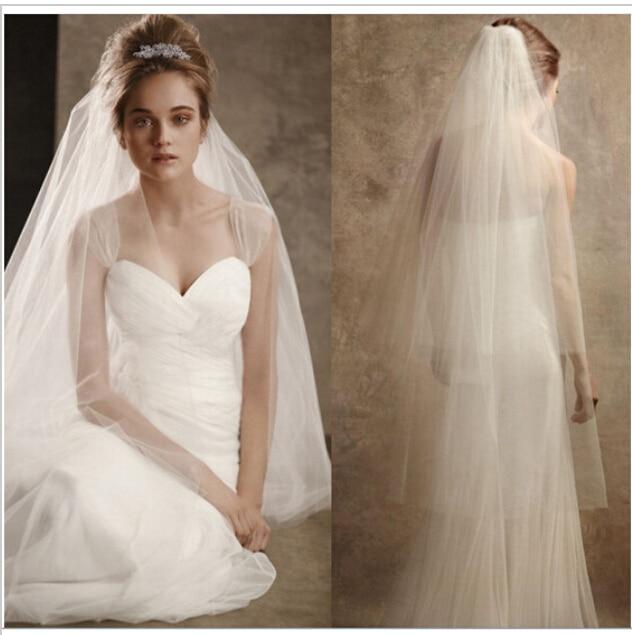 Stock Hot New 2017 Spring Styles 3 Layers White Wedding dresses Bridal Veils flor cabelo casamento noiva