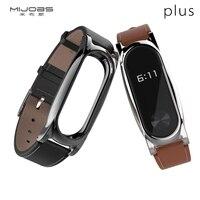 Original Xiaomi Mi Band 2 Plus Mijobs Leather Wristband Plus First Layer Leather Strap Screw Free