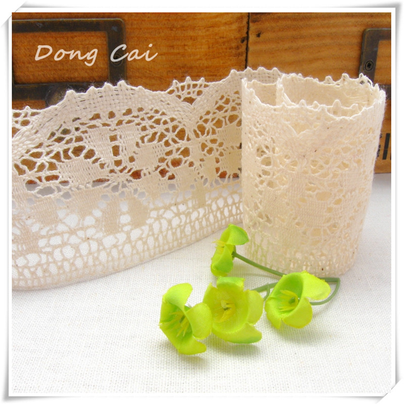 5 Yards Lot Novelty Fine Cotton Diy Natural Lace Fabrics Width 8cm Special