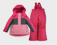 2017 Комплекты одежды для девочек для детей открытый лыжный костюм Водонепроницаемый Хлопок Весна и зима новый детский Подпушка теплые и тол