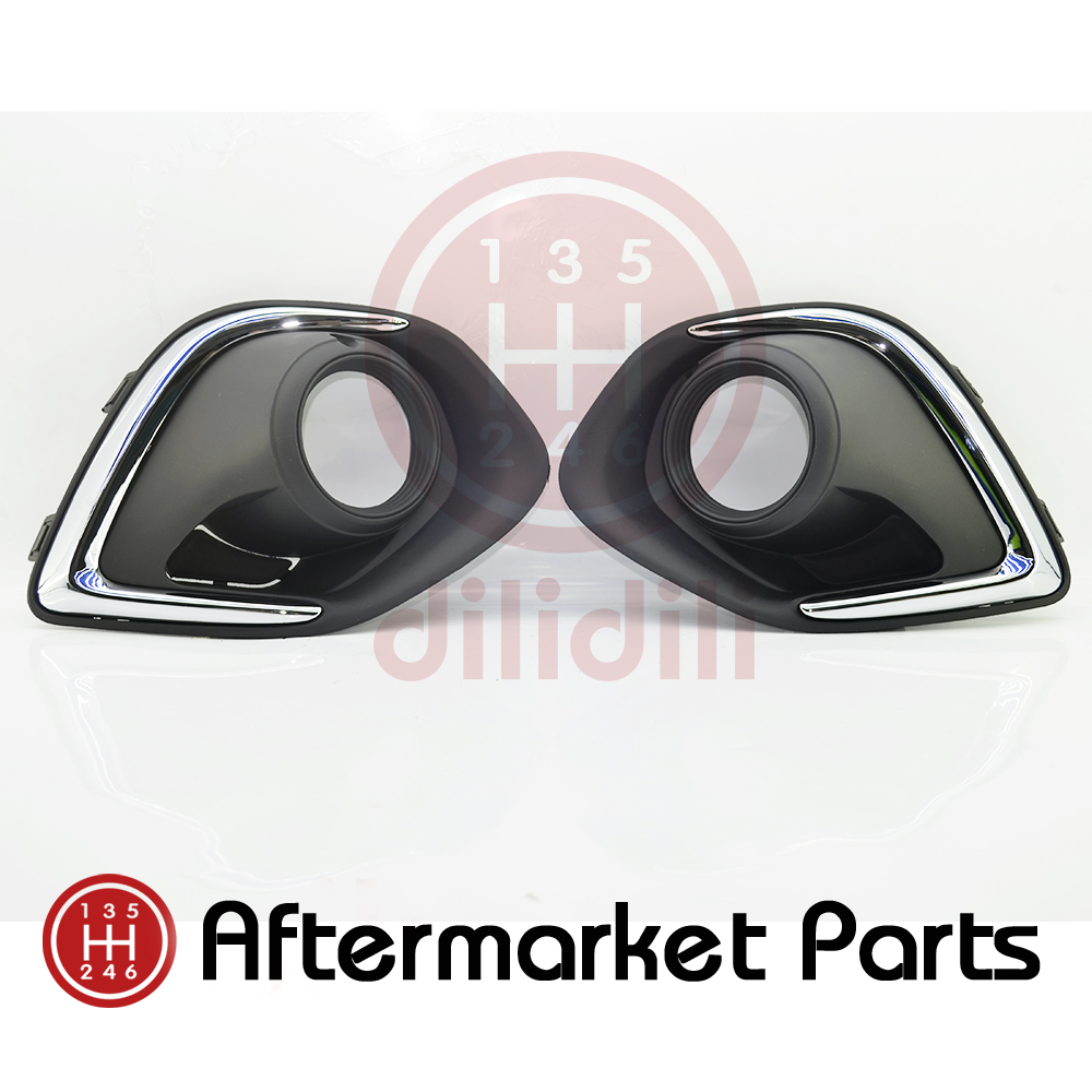 Pair Fog Light Lamps cover BUMPER BEZEL for Mitsubishi Outlander Sport ASX 2013 2014 2015 решетка радиатора mitsubishi asx 2 шт 2010 2013