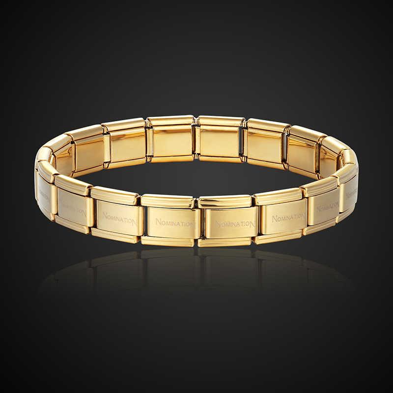 Joyería de marca Theresa, pulsera de acero inoxidable de estilo popular, brazalete de moda elástico y letra para todos, joyería