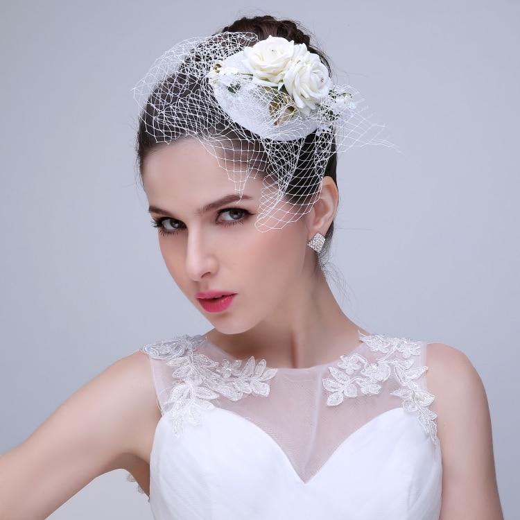 Wedding Veils Styles: 2015 New Style Wedding Bridal Fascinator Face Veil Flower