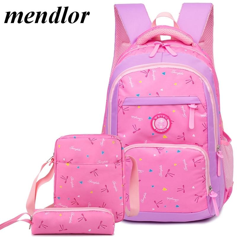85777e0a8420 Детские школьные сумки девушки ортопедические школа рюкзак ранцы для  маленькой принцессы рюкзак начальная школа рюкзак mochila