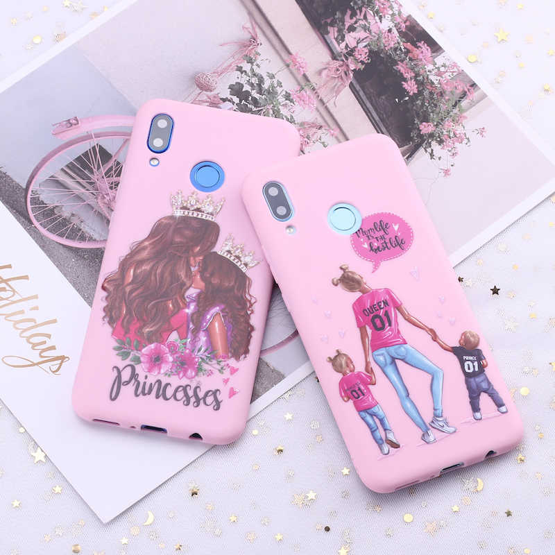 For Samsung S8 S9 S10 S10e Plus lite Note 8 Note 9 Princess Mom Dad Baby Candy Silicone Phone Case Cover Capa Fundas Coque