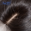 aliexpress new star team best brazilian virgin hair middle part natural color straight Silk Base lace closure DHL Free shipping