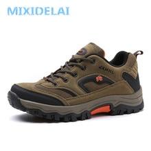 MIXIDELAI/большие размеры 39-47; модная мужская обувь; удобная Водонепроницаемая Уличная Повседневная Обувь На Шнуровке; сезон весна-осень; резиновые кроссовки