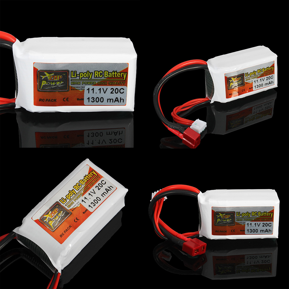 1pcs ZOP Power 11.1V 1300MAH 20C T Plug For RC Drone Models Helicopters Airplanes Cars Boat Batteria