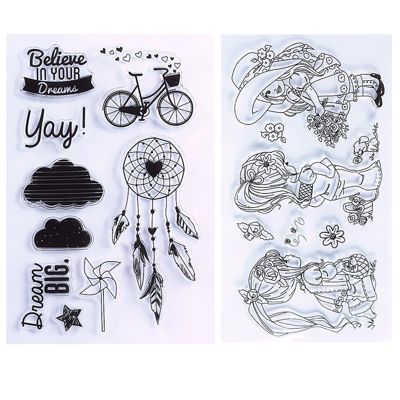 New Unique Clear Stamp Scrapbook DIY Photo Cards Rubber Stamp Seal Stamp Happy Transparent Silicone Stamp #94565 wyf1017 scrapbook diy photo album cards transparent silicone rubber clear stamp 11x16cm camera