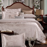 Wedding bed set white bedding set Jacquard wedding duvet cover + flat sheet + pillowcase Palace adult bed linens ship by express
