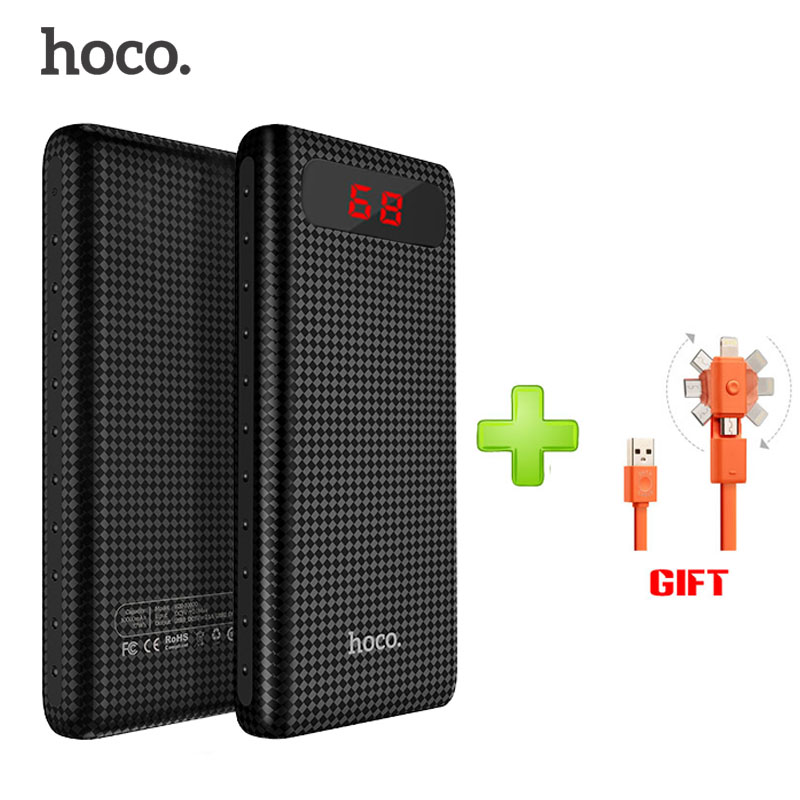imágenes para HOCO B20A Dual USB Banco de la Energía 18650 poverbank PhoneCharger Móvil Bateria Banco Externo de La Batería 20000 mah Portátil Para todos los teléfonos