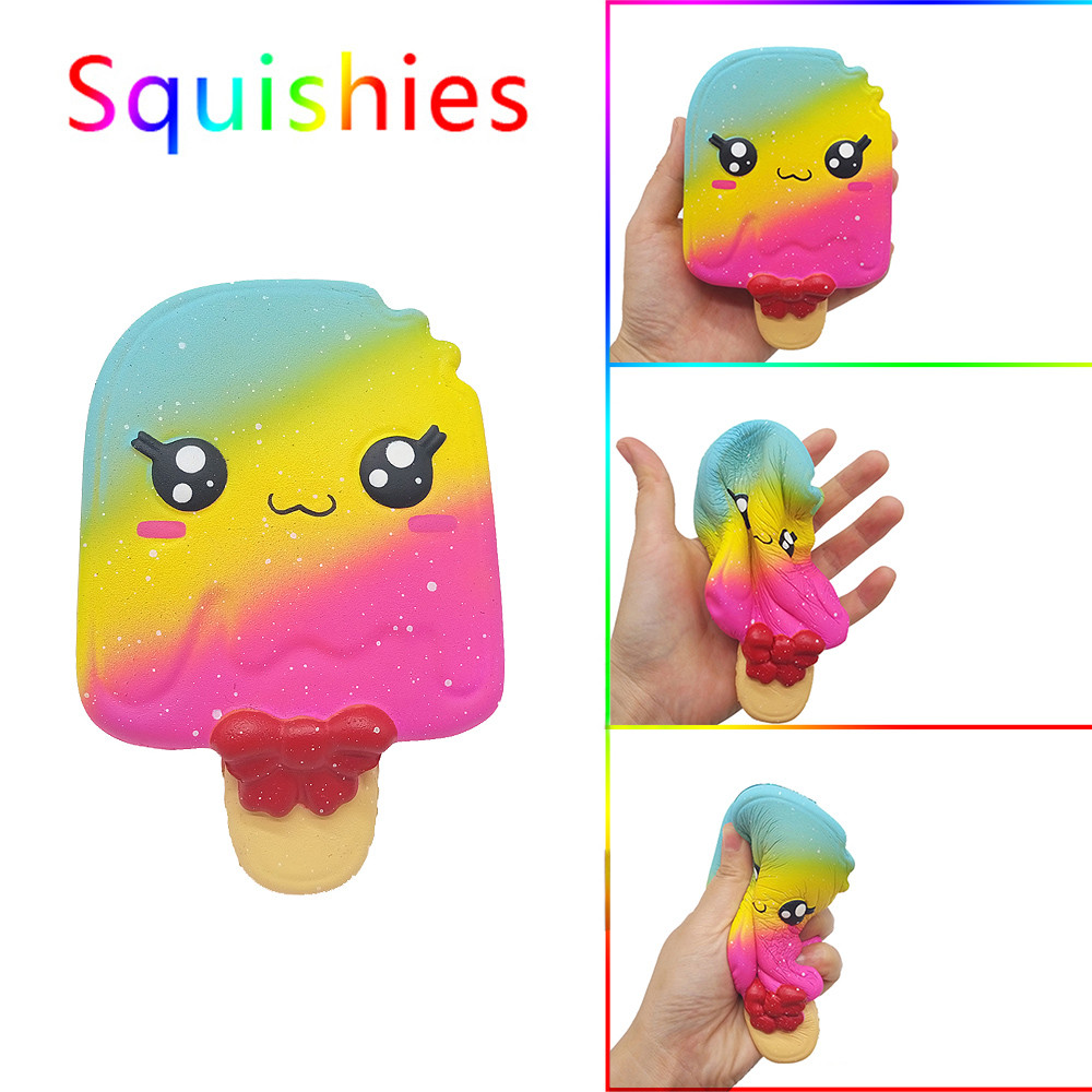 Cartoon Squishy Ice Cream Scented Squishies Slow Rising Kids Toys Stress Relief Toy Skuishy Squishes Squeeze Mochi Squishy 2019