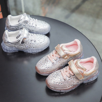 Kids Sequins Princess Shoes Bling Bling Sports Sneakers Spring Autumn Casual Anti skid Breathable Zapatos Nina Size 26 37