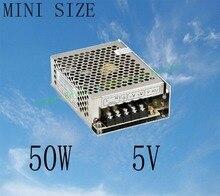 Fonte de Alimentação 50 W 5 V 10A Tamanho Mini Fonte de Alimentação AC DC Conversor 5 V Tensão Variável DC Mini Tamanho Ms-50-5 Regulador