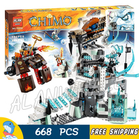 668pcs 2016 Bela 10296 Sir Fangar's Ice Fortress building blocks amazing fascinating Compatible with Lego Strainor Voom