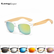LongKeeper Bamboo Foot Sunglasses Men Women Wooden Sunglasses Brand Designer Original Wood Sun Glasses Factory Wholesale Price