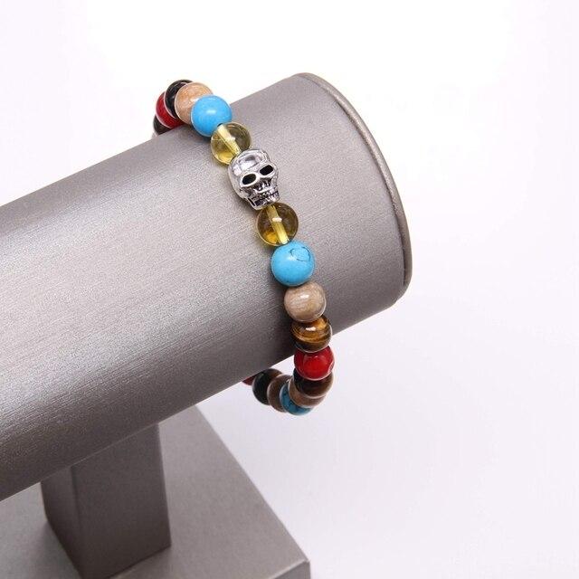 Hemiston thomas разноцветный материал микс Браслет с черепом