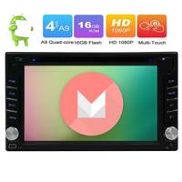 6.2 Double din HD Car DVD Multimedia Player Touchscreen Bluetooth Car Radio Android 6.0 OS Auto stereo GPS Navigation USB Aux