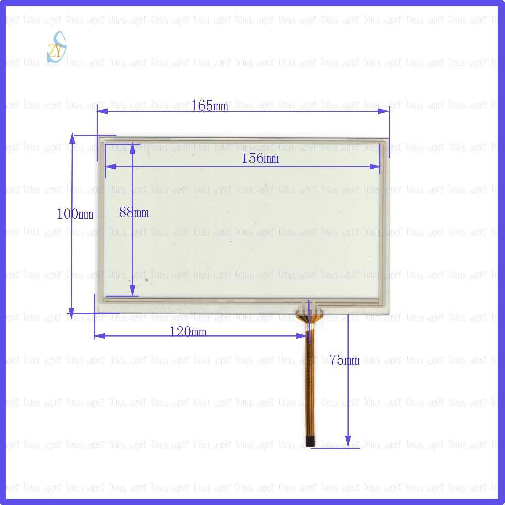 ZhiYuSun  165mm*100mm KDT-6849 7inch Touch Screen Glass  Resistive USB Touch Panel Overlay Kit  165*100 TOUCH SCREEN
