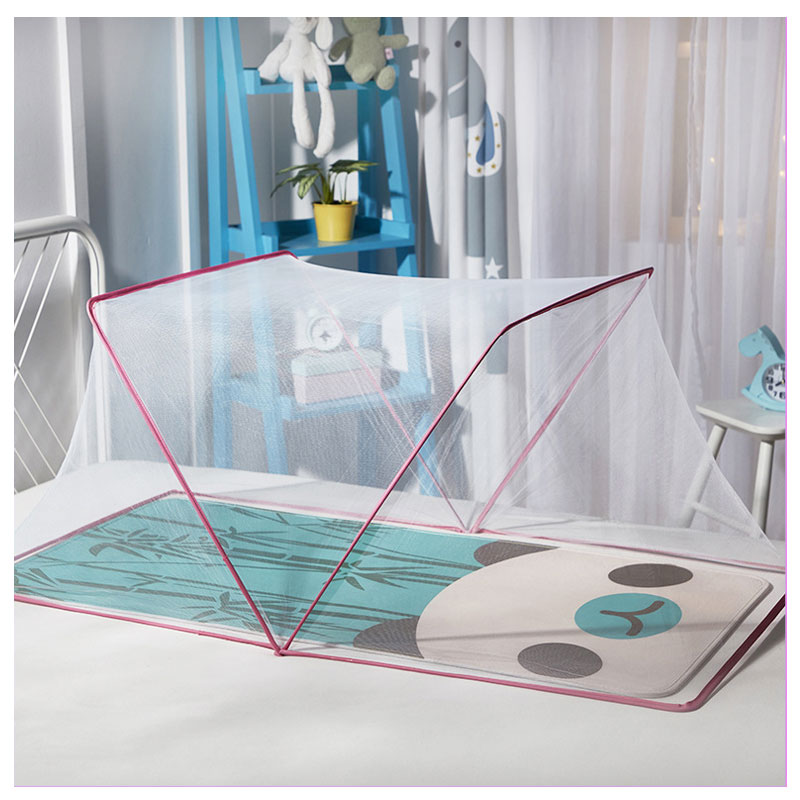 Free Installation Bottomless Folded Baby Mosquito Net Crib Netting Newborn Bed Mosquito Net Travel Portable Folding Crib Netting