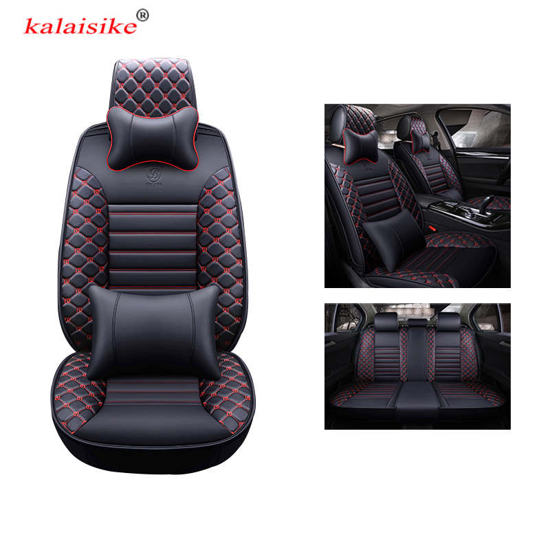 kalaisike universal leather car seat covers for Ford all models kuga fiesta mondeo fusion focus ranger Everest Taurus Ecosport