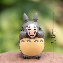 Estudio Ghibli película mi vecino Totoro con máscara Cosplay animado lejos de la cara hombre resina figura pesca Totoro modelo de juguete