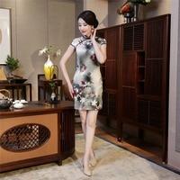Shanghai Story Chinese Traditional Dress Robe Rouge Chinoise Modern Qipao Cheongsam Dress Chinese Clothing Store Short Qipao