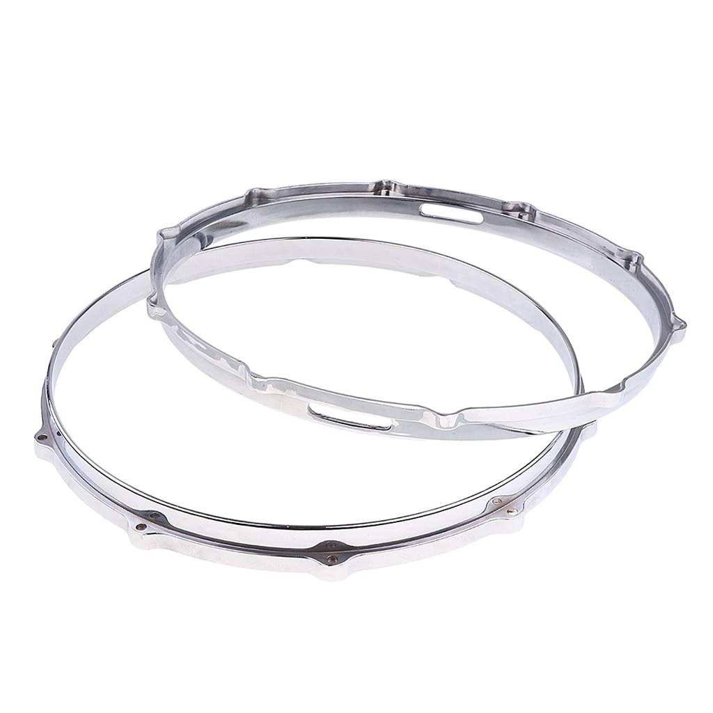 Tooyful 1 Pair  Snare Drum Hoop Ring Rim Aluminum Alloy For 14'' Snare Drum Percussion Instrument Parts Accessories