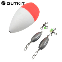 OUTKIT Sea Rock Fishing Float Set Buoy Bobber Tackle Tool S L Belly Floats For River