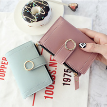 Fashion 2019 solid small women's wallets for women